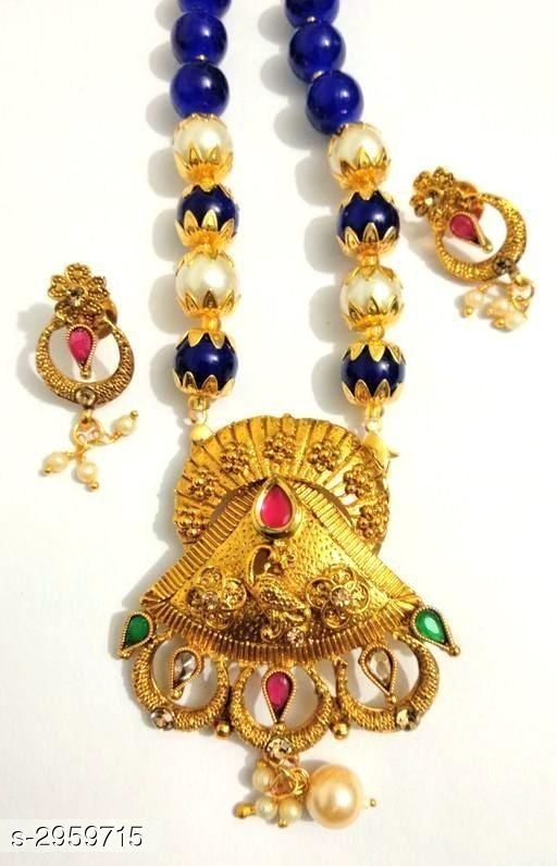 Jewellery Set Antique Alloy Women's Jewellery Set  *Material* Alloy  *Size* 24 in  *Description* It Has 1 Piece Of Necklace & 1 Pair Of Earring  *Work* Embellished  *Sizes Available* Free Size *    Catalog Name: Ashi Antique Alloy Women's Jewellery Sets Vol 18 CatalogID_403470 C77-SC1093 Code: 233-2959715-
