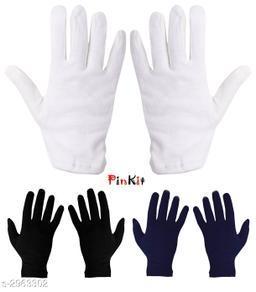 Trendy Unisex Multicolor Cotton Gloves