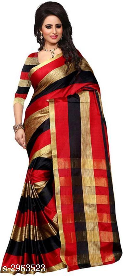 Stylish Poly Cotton Women's Saree