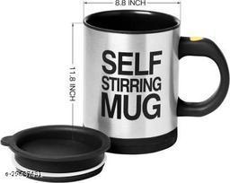 Tornado Self Stirring Coffee Mixing Cup Blender Stainless Steel, Plastic Coffee Mug (350ml)