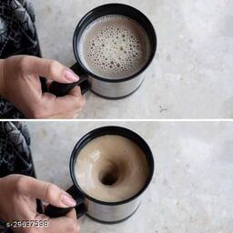 Tornado Enterprise Self Stirring Stainless Steel Coffee Mug  (350 ml)