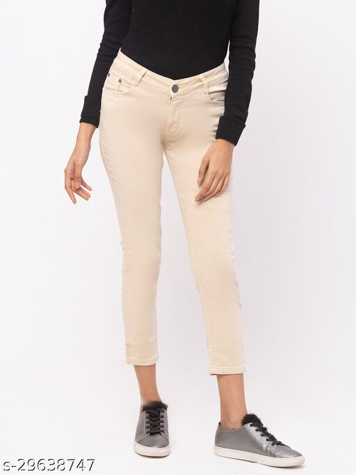 ZOLA Fawn Pencil Fit Low Waist Calf Length Jeans(576340Fawn)