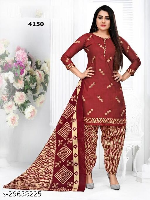 Anny Deziner Women's Multi Color  Printed Unstitched Salwar Suit Dress Material