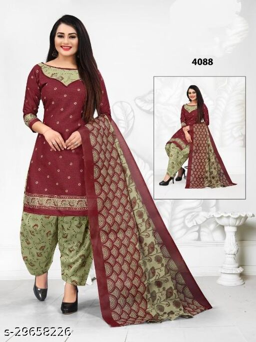 Anny Deziner Women's Light Pista  Printed Unstitched Salwar Suit Dress Material