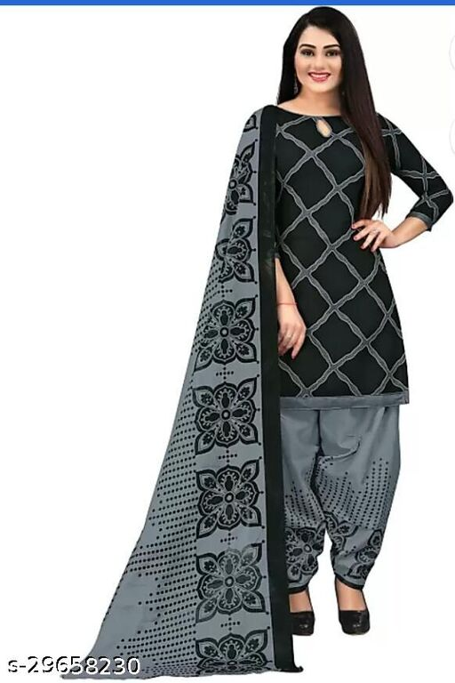 Anny Deziner Women's Blue  Printed Unstitched Salwar Suit Dress Material