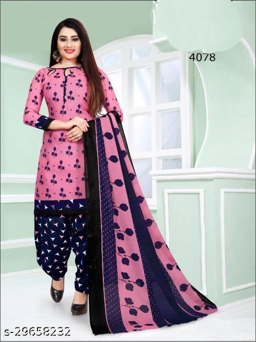 Anny Deziner Women's Pink   Printed Unstitched Salwar Suit Dress Material