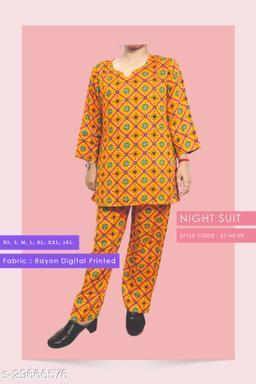 Rayon Digitel Printed Comfortable Night Suit