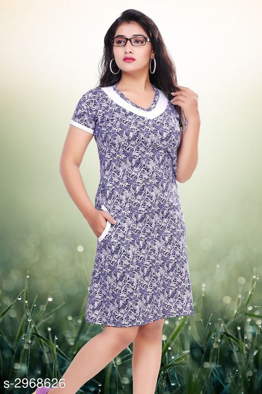 Attractive Cotton Women's Gown