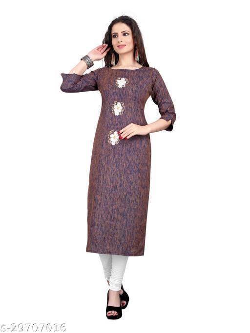 Women's Multi Cotton Solid Kurti