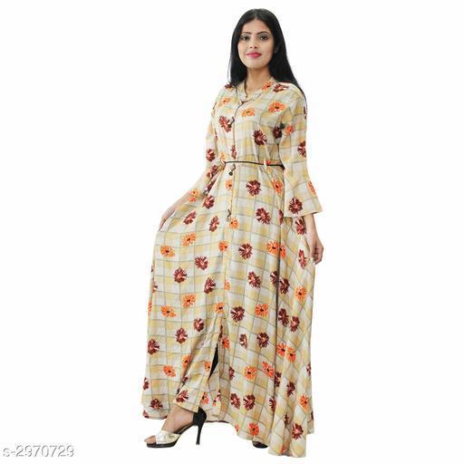 Women's Printed Light Multicolour Cotton Blend Dress