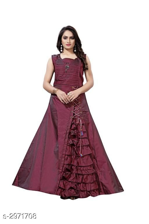 Trendy Cotton Solid Women's Gown