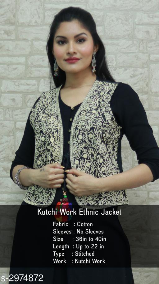 Attractive Cotton Kutchi Work Ethnic Jacket