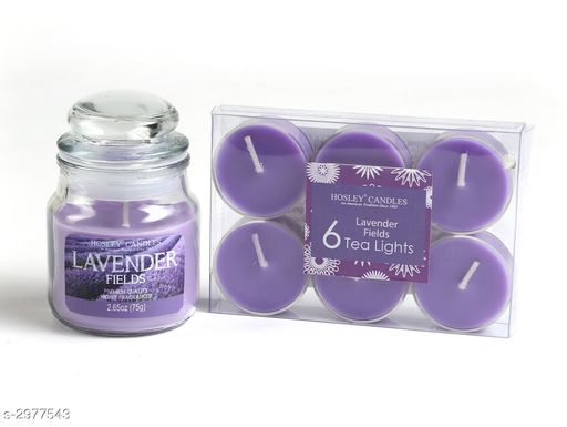 Beautiful Jar Candle With Pack Of Scented Tealight