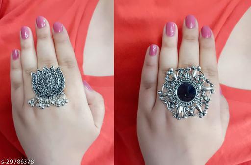 Beautiful Oxidised Combo Rings