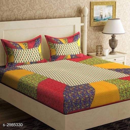 Home Artistic Cotton Printed Double Bedsheet