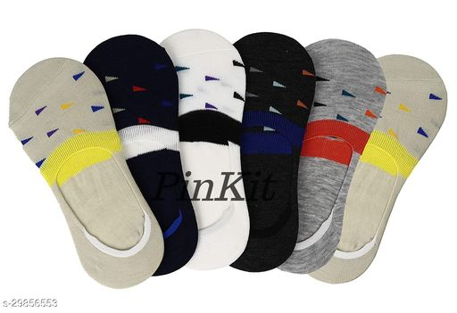 Ekshi Loafer Socks for Men & Women Cotton Solid Peds/Footie/No-Show, Low Cut-(Pack of 6 Pairs) (Color-Any 6 colors)