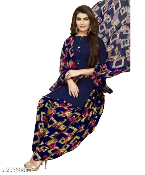 Mirraw Printed Polyester Unstitched Salwar Suit/Kameez Dress Material With Dupatta Latest Design For Women'S & Girls - For All Occasion