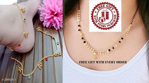 FANCY ANKLETS WITH MANGALSUTRA COMBO