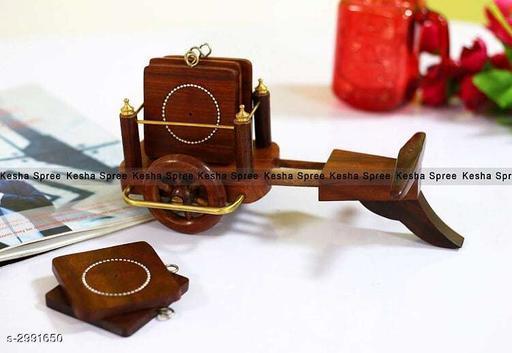 Bullock Cart Coaster Set of 6 Wooden