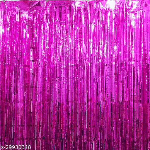 Foil Curtains (3 X 6 Feet) Pink (Party Monkey)