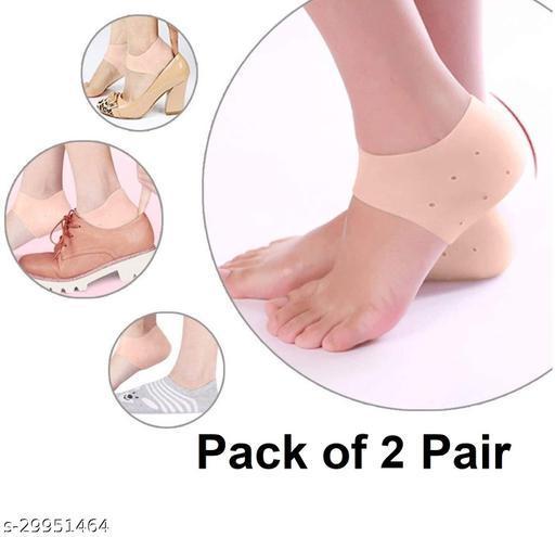 Anti Crack Silicon Gel Heel And Foot Protector, Pain Relief And Heel Cracks for Men And Women -  2 Pair (Half Heel Socks)