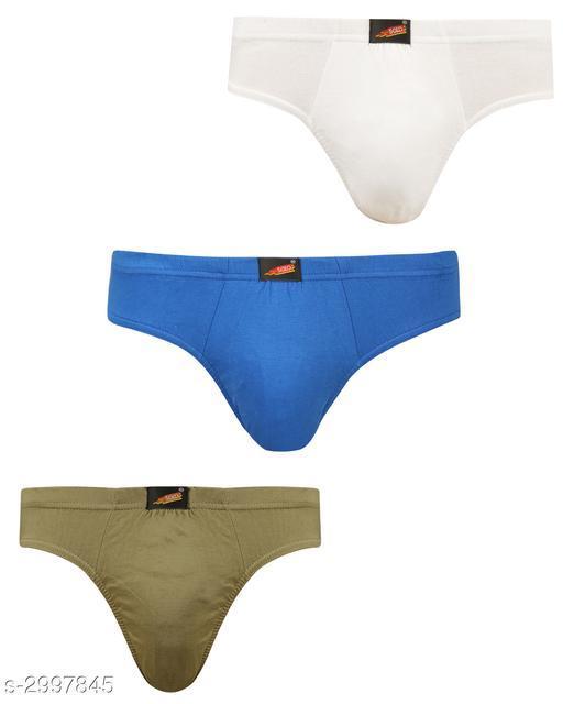 Comfy Men's Cotton Solid Briefs (Pack Of 3)
