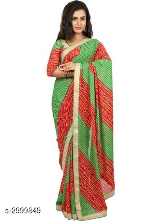 Sarees Attractive Bandhani Women's Sarees  *Fabric* Saree -Bandhani, Blouse - Bandhani  *Size* Saree Length - 5.5 Mtr, Blouse Length - 0.8 Mtr  *Work* Printed  *Sizes Available* Free Size *    Catalog Name: Tiya Printed Bandhani Sarees with Lace border CatalogID_409585 C74-SC1004 Code: 663-2999849-