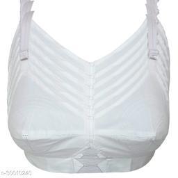 White Moon Cotton Women's Bra