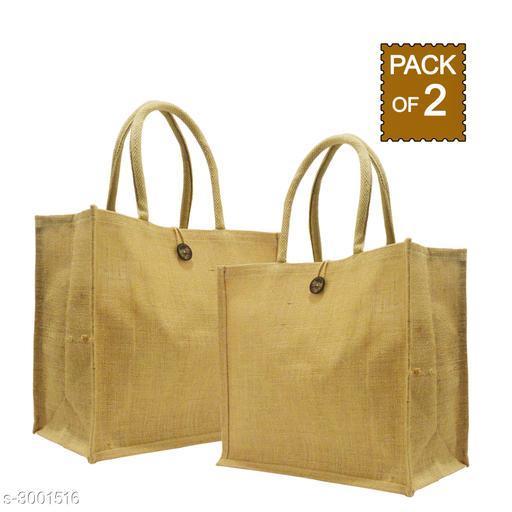 Attractive Women's Beige Jute Handbag