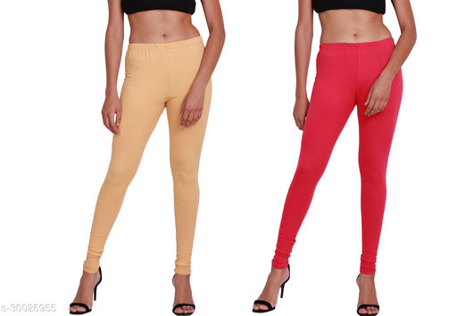 Woman Leggings, pack of 02 -Free Size