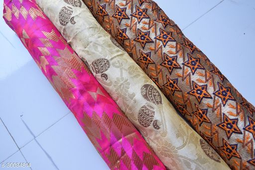 Designer Blouse Fabric Combo (Pack Of 3) Pack 21