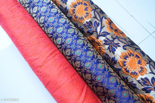 Designer Blouse Fabric Combo (Pack Of 3) Pack 26