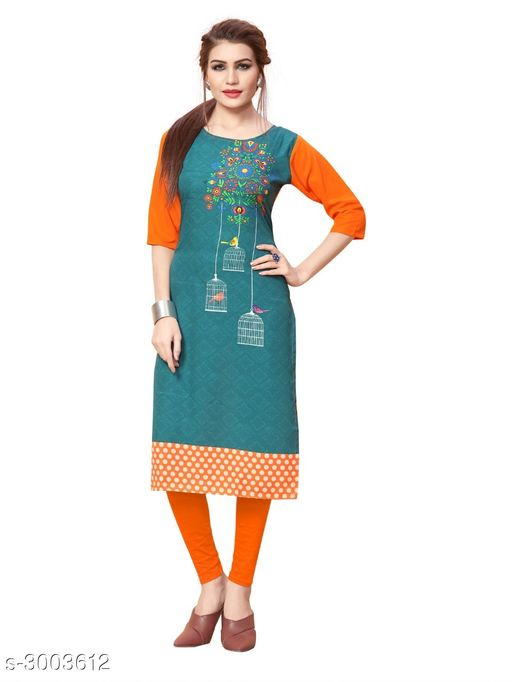 Kurtis & Kurtas Women Botanical Printed Crepe Kurti  *Fabric* Crepe  *Sleeves* Sleeves Are Included  *Size* S - 36 in, M - 38 in, L - 40 in, XL - 42 in, XXL - 44 in  *Length* Up To 42 in  *Type* Stitched  *Description* It Has 1 Piece Of Women's Kurti  *Work* Printed  *Sizes Available* S, M, L, XL, XXL   Catalog Rating: ★3.7 (858) Supplier Rating: ★3.9 (13881) SKU: 92_(1) Shipping charges: Rs1 (Non-refundable) Pkt. Weight Range: 300  Catalog Name: Women Printed Crepe Kurtis - Crepe wali Kurtis Code: 072-3003612--663