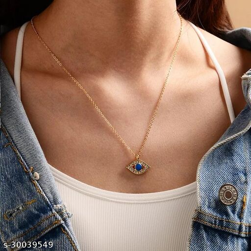 Attractive Studed Evil Eye Necklace For Women and Girls