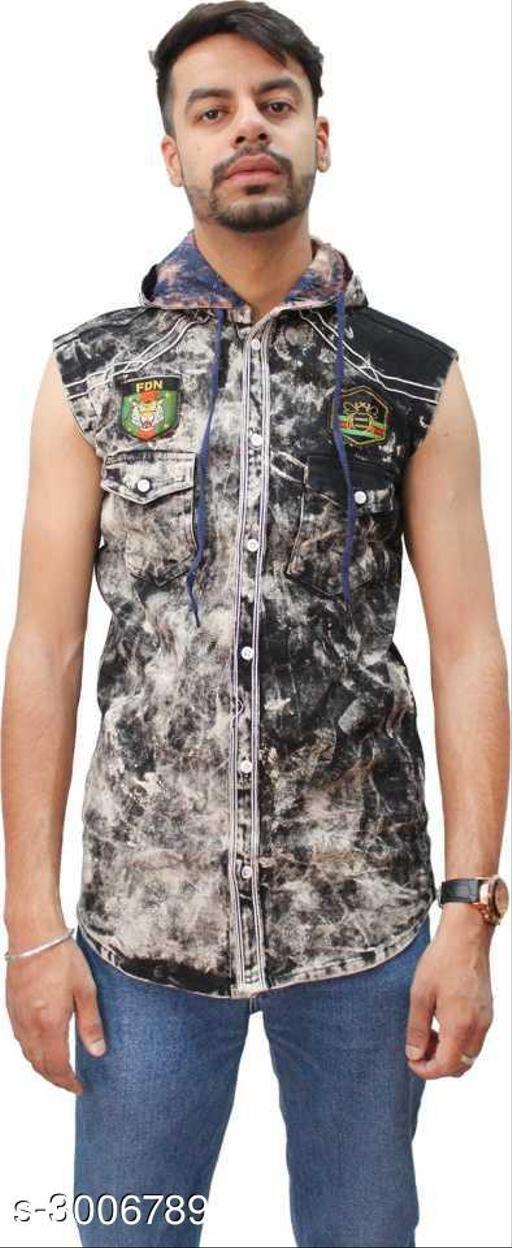 Stylish Denim Men's Shirt