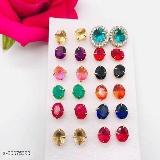 MULTICOLOR BUTTISET earrings