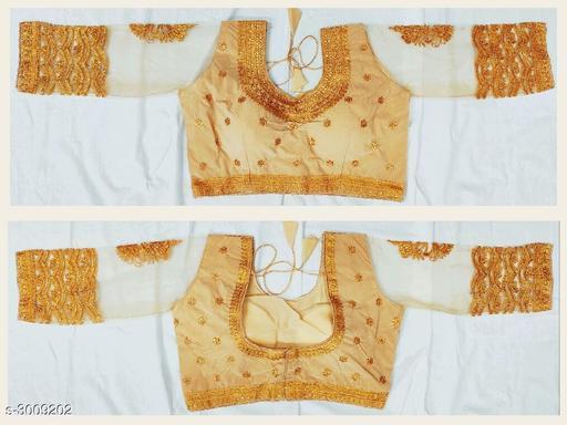 Elegant Trendy Tapeta Silk Women's Blouse