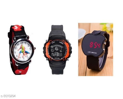 Stunning  Kid's Watches ( Pack Of 3 )