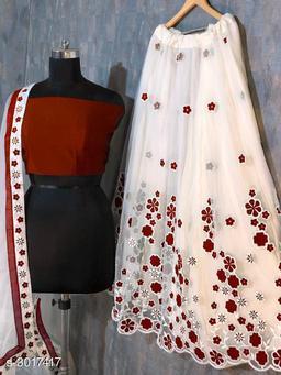 Partywear Net Women's Lehenga