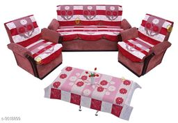 Elegant Polyester Sofa Set Cover