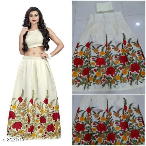 Partywear Bangalori Satin Silk Women's Lehenga