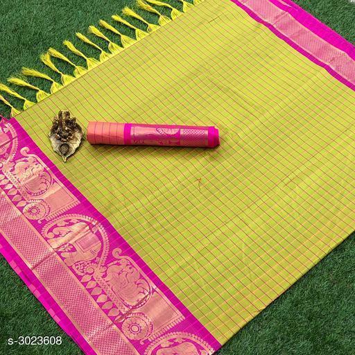 Stylish Poly Cotton Silk Women's Saree