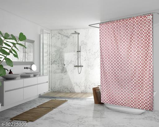 Stylista Waterproof Shower Curtains for Bathroom 7 feet Height 4.5 feet Width Geometric Pattern Brown with 8 Hooks