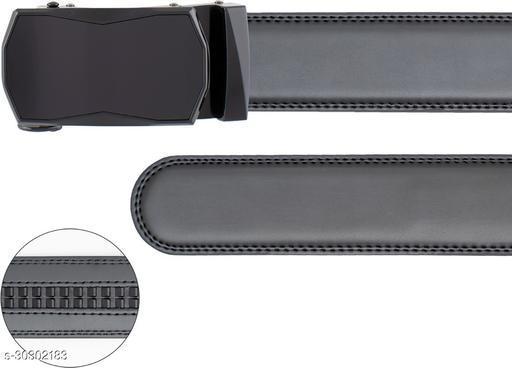 ThunderLook Men Casual Black Genuine Leather Belt