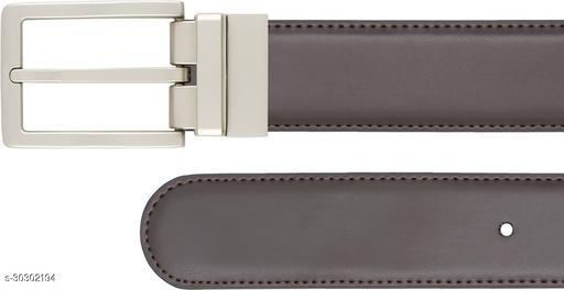 ThunderLook Men Casual Brown Genuine Leather Belt