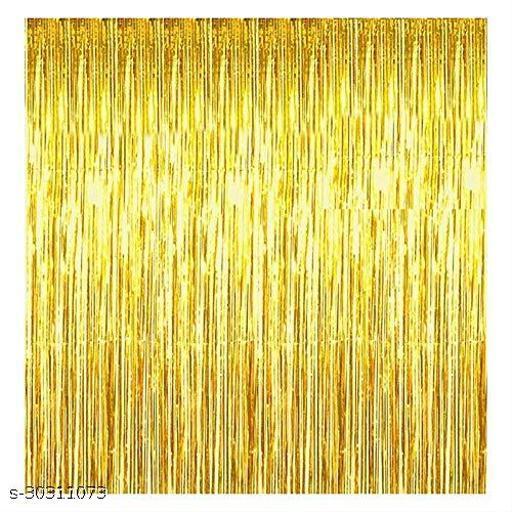 LUXZURYDSP Golden Foil Curtain Pack of 4 for Birthday, Anniversaries, Graduation, Retirement, Baby Shower Decoration
