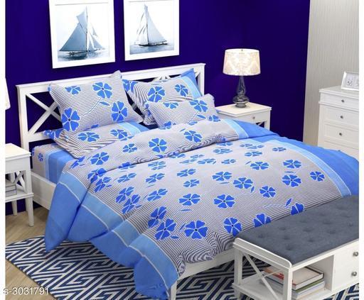 Elegant Microfiber Double Bedsheet