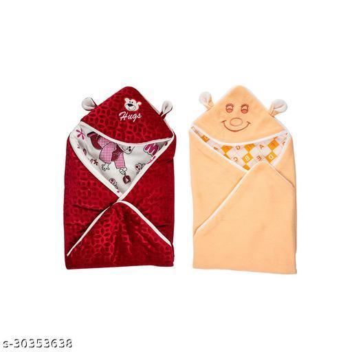 Naman Printed Crib Bed Baby Blanket Combo's
