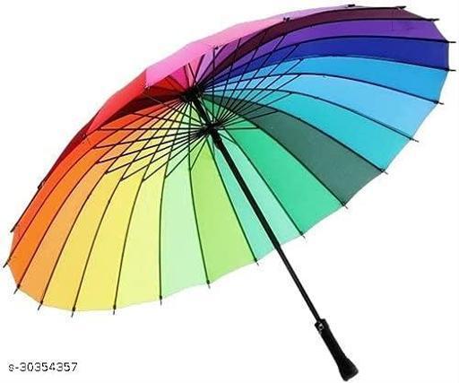 Multi-Color Rainbow Umbrella