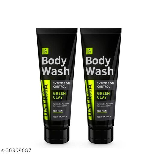 Ustraa Body Wash-Green Clay 200 ml (Pack of 2)